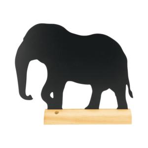 Tischkreidetafel Elefant mit beschriftbarer Kreidetafel aus Melamin, Aufsteller Kreidetafel Eleganten Silhouette