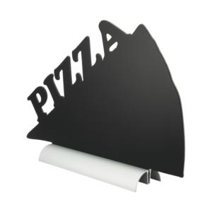 Tischkreidetafel Securit mit Aluminiumsockel zum Aufstellen auf Tischen in Pizzeria, Restaurants, Takeawas