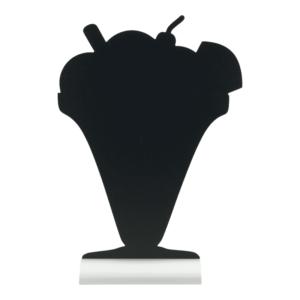 Tischtafel Glace Form Silhouette für Gelaterie, Kaffees, zum Präsentieren von frischen Glacesorten anhang von Kreidemarkern