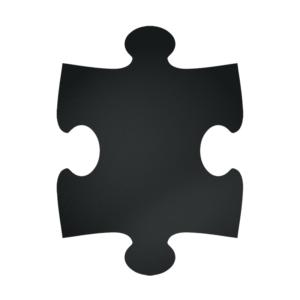 Wandkreidetafel in Puzzle Form Silhouette im 5er Set, Puzzle Kreidetafel für Wand im 5er Set