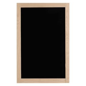 Wandkreidetafel mit Holzrahmen Buche 68x128cm, elegante Holzkreidetafel mit Rahmen und schwarzer Kreidetafel beschriftbar mit Kreidemarker