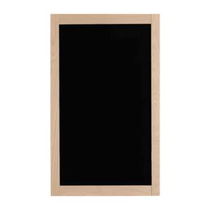 Wandkreidetafel mit Holzrahmen in Buche 60x115cm, elegante Holz Kreidetafel beschriftbar mit Kreide und Kreidemarker