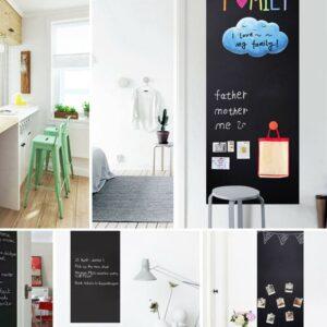 Wandtafel Kreidefolie schwarz Zuhause zum Schreiben für Kinder