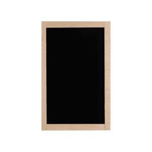 Holz Kreidetafel mit hellem Holzrahmen in Buche naturbelassen, schwarze Kreidetafel mit hellem Holzrahmen 40x90cm