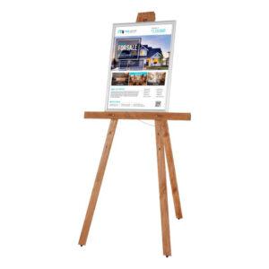Holz Staffelei dunkelbraun aus Kiefernholf für Restaurants, Schulen und Maler Künstler