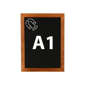 Kreidetafel DIN A1 magnetisch mit dunklem Holzrahmen günstig online kaufen
