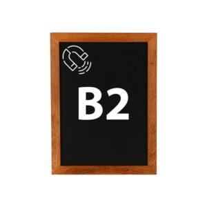 Kreidetafel magnetisch B2 mit dunklem Holzrahmen günstig online kaufen