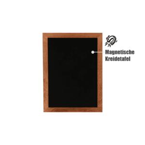 Kreidetafel mit Rahmen magnetisch zum Aufhängen an der Wand als Wandkreidetafel oder Menütafel für Bars