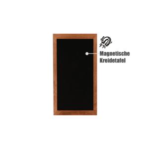 Magnetische Kreidetafel mit dunkelm Holzrahmen, Wandkreidetafel magnetisch wetterfest