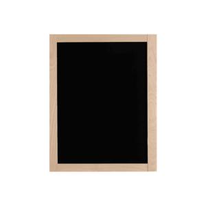 Wandkreidetafel mit hellem Holzrahmen in Buche, Kreidetafel zum Beschriften mit schwarzer Kreidefläche 60x80cm