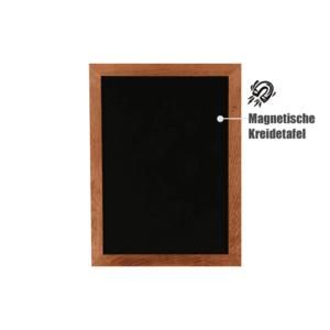 Wandtafel magnetisch mit Holzrahmen dunkel gebeizt, wetterfeste Kreidetafel magnetisch