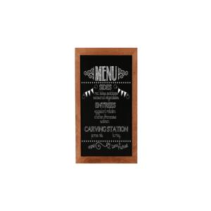 beschriftete Menütafel magnetisch zum Aufhängen als Wandkreidetafel in Restaurants, Bars, Kantine, 20x40cm