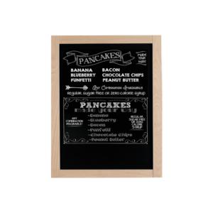 elegante Holz Kreidetafel mit hellem Rahmen zum aufhängen in Bars und Restaurants als Preistafel oder Dekoration in Wohnräumen
