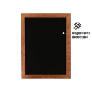 grosse Wandkreidetafel zum Aufhängen mit magnetischer Kreidetafel, Schreibtafel magnetisch mit Holzrahmen 60x80cm