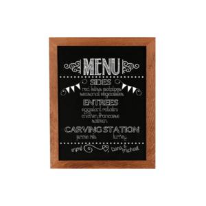magnetische Tafel zum Schreiben, schwarze Kreidetafel magnetisch mit Holzrahmen zum aufhängen in schulen und restaurants