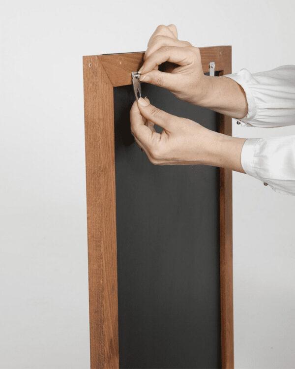 magnetische Wandkreidetafel befestigen mit Montageset