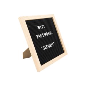 Tischkreidetafel Buchstabentafel Letterboard mit Rahmen und Acrylbuchstaben