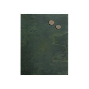 Schiefer Kreidetafel aus Grünschiefer beschriftbar mit Kreide und Neodym Magnete, Magnettafel aus Echtschiefer 61x80cm
