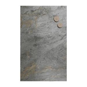 Schiefer Pinnwand Kreidetafel gross im Format 61x120cm, Kreidetafel aus echtem Schiefer magnetisch, Magnettafel Schiefer