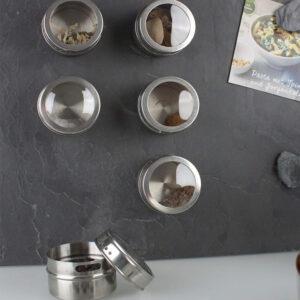 Gewürzdosen magnetisch für die Verwendung mit magnetischen Küchentafeln