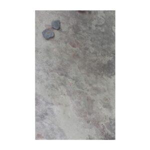Grosse Schiefer Wandkreidetafel magnetisch in violette grauem Schiefer als Pinnwand 61x120cm