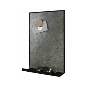 Kreidetafel magnetisch mit Ablage, Schiefertafel Kreidetafel magnetisch mit Ablage für Kreide und Schlüssel Burning Forest