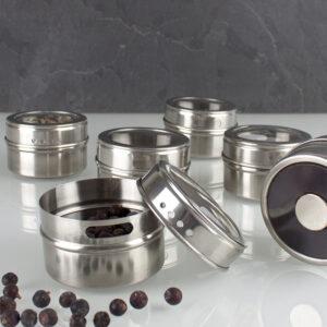 Magnetische Gewürzdosen für Magnettafeln und Pinnwände geeignet für Küche