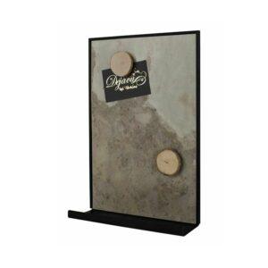 Magnetische Wandkreidetafel aus Schiefer für Küche mit Ablage für Kreide