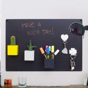 Büro Wandkreidetafel magnetisch für Schlüssel, Stifte, etc.