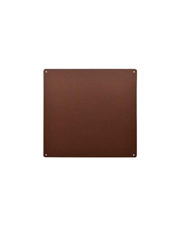 Magnetische-Kreidetafel-Rostfarbe-Kalamitica-Metall-Wandschreibtafel-33x33cm-mit-Lochbohrungen
