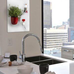 Magnetische Küchen Wandkreidetafel weiss 38x56cm Kalamitica