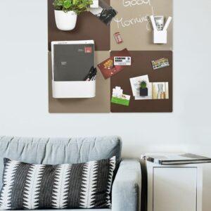 Magnetische Wandkreidetafeln Dekotafel für Wohnraum für Fotos & magnetische Gegenstände Beige & Rostfarbe