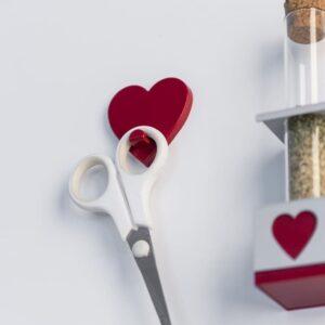 Magnetischer Aufhängegacken Herzform rot