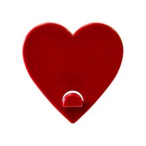Magnetischer Aufhänger Herz Rot