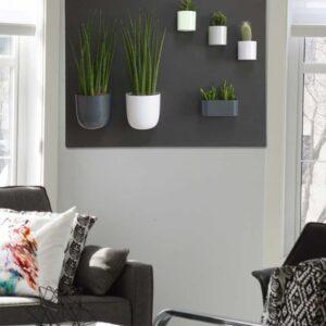 Magnettafel Schwarz Wohnzimmer mit magnetischen Produkten angebracht