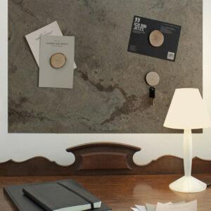 Modern Schiefer Wandtafel magnetisch als Dekoration und Pinnwand für Zuhause Skin Rock