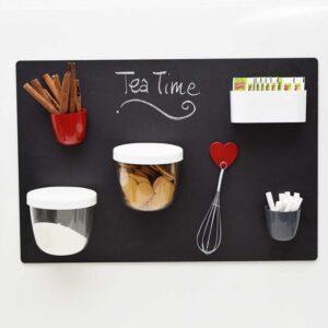Wandkreidetafel Küche magnetisch schwarz Kalamitica 56x38cm