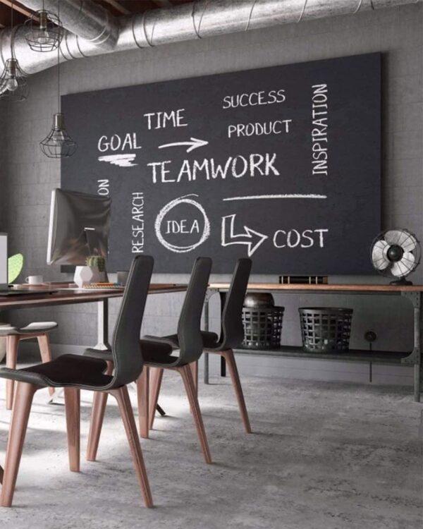 grosse Kreidefolie selbstklebend schwarz als Wandtafel auf Wänden für Notizen oder Kinder tafelfolie