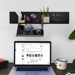 Magnettafel fürs Büro schwarz