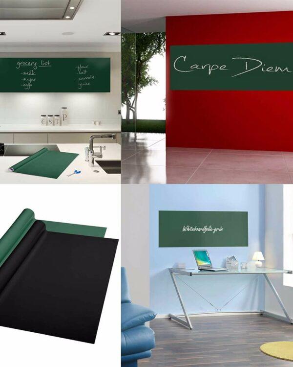 Wandtafelfolie selbstklebend in Grün für Wohnräume, Küche, Kinder und Gastronomie
