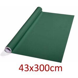 grüne Tafelfolie selbstklebend und beschriftbar mit Kreide & Kreidemarker, 43x300cm