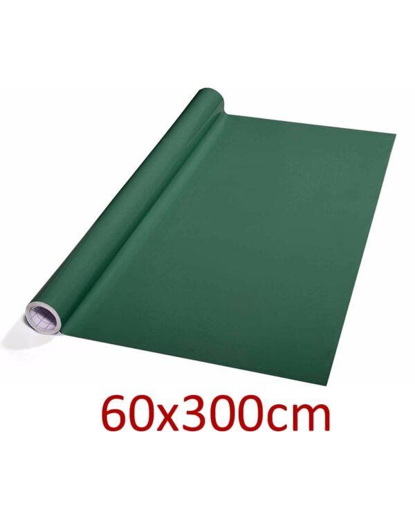 grüne Tafelfolie selbstklebend und beschriftbar mit Kreide & Kreidemarker, 60x300cm