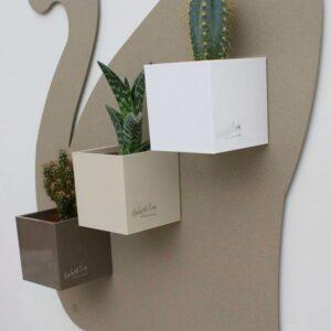 Mini Pflanzentöpfe magnetisch 3er Set