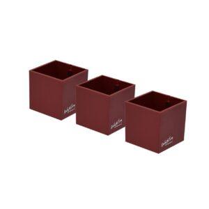 Rote Magnetbehälter Würfel für Blumen und Bürogegenstände