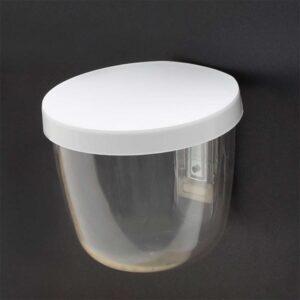 Magnetbehälter rund transparent mit weissem Deckel Kalamitica