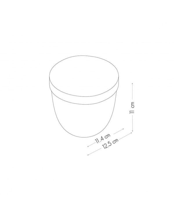 Magnetischer Behälter transparent rund mit weissem Deckel
