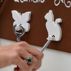 Magnetischer Schlüsselaufhänger Katzenform weiss