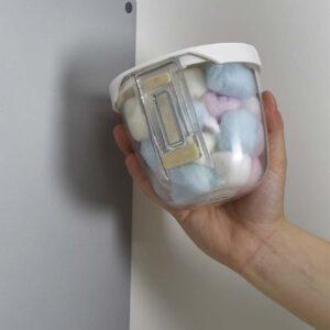Magnettafel Behälter rund mit weissem Deckel