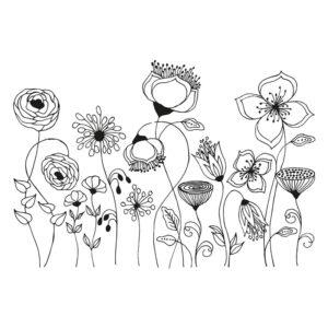 Blumen Fensterschablonen Motive zum Nachzeichnen