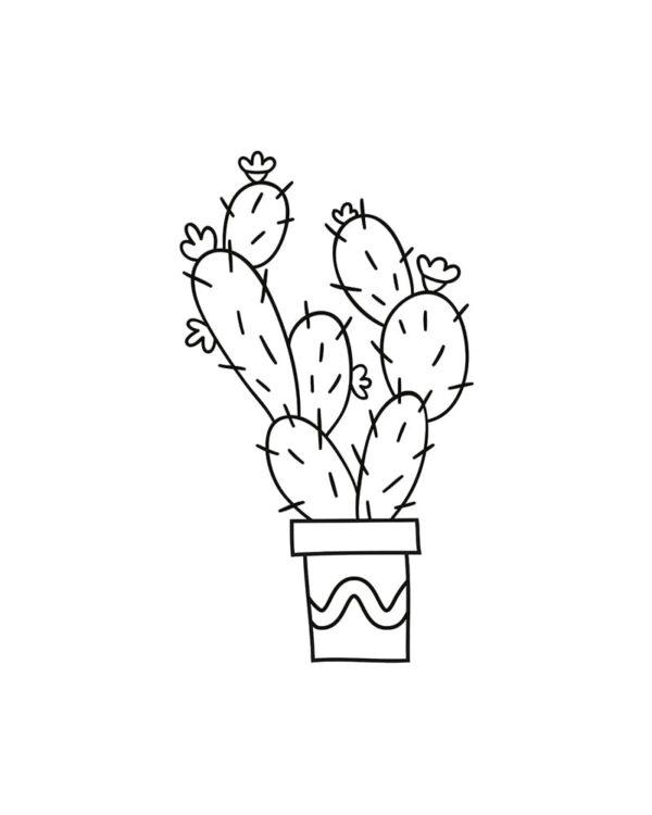 Fensterschablone Pflanze zum Nachzeichnen mit Kreidemarker